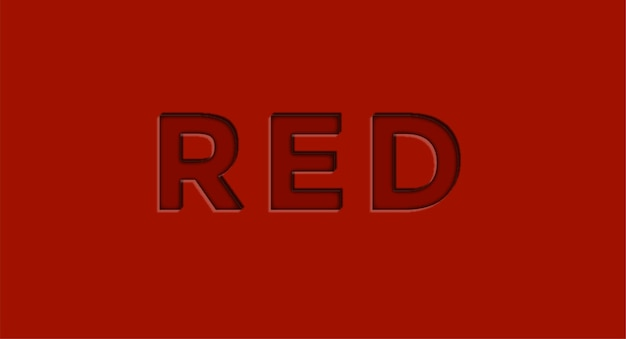 Red 3d editable vector text effect free vector