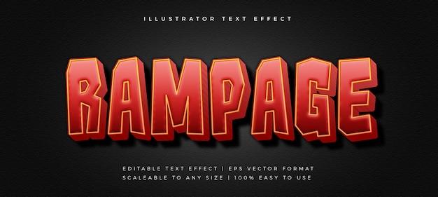 Красный эффект шрифта стиля текста заголовка 3d-игры