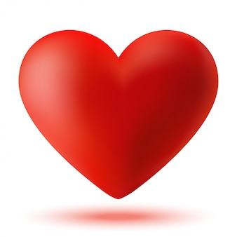 Красное 3d сердце
