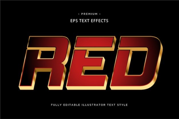 Red 3d text effect
