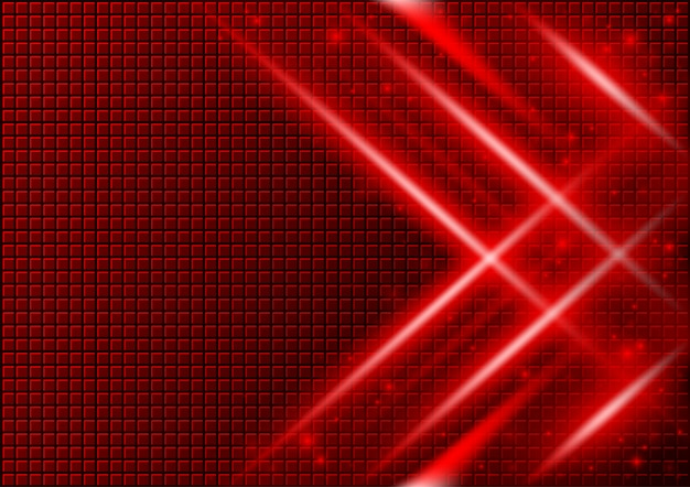 Red abstract background with light beams effects