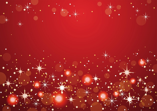 Red abstract bokeh background. christmas and new year holidays