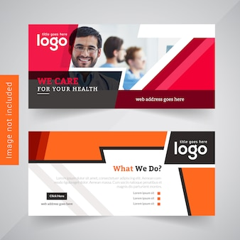 Red Abstract Business Banner Design