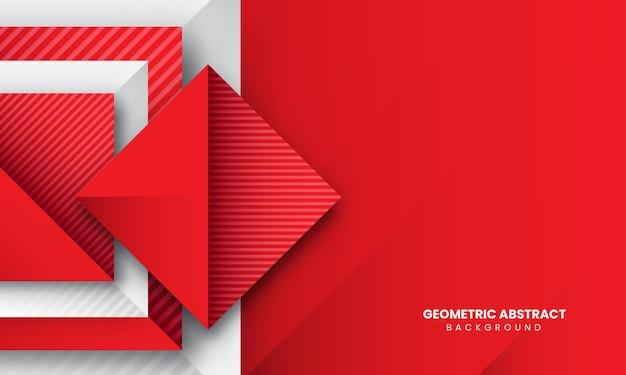赤の抽象的な幾何学的な背景プレミアムベクトル