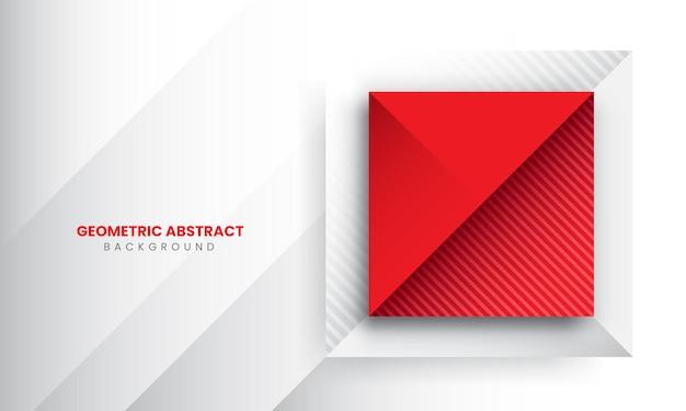 赤の抽象的な幾何学的なグラデーションの背景プレミアムベクトル