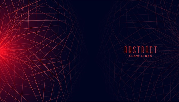 Red abstract geometric lines glowing background