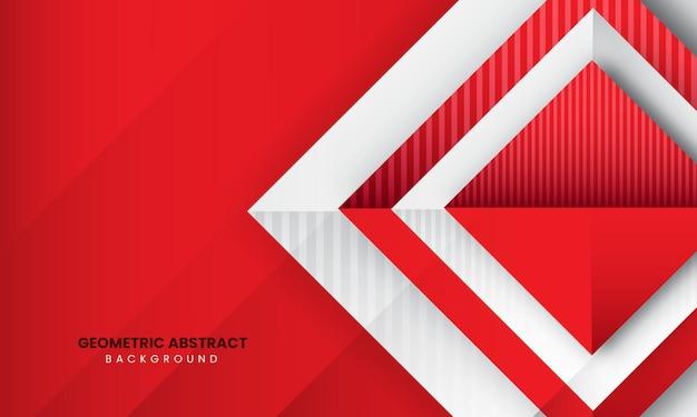 赤の抽象的な幾何学的なモダンな背景プレミアムベクトル