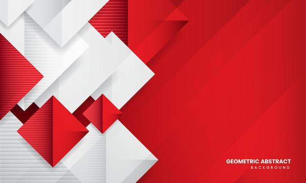 赤の抽象的な幾何学的なモダンな背景