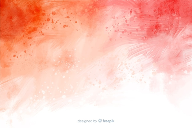 Red abstract hand painted background