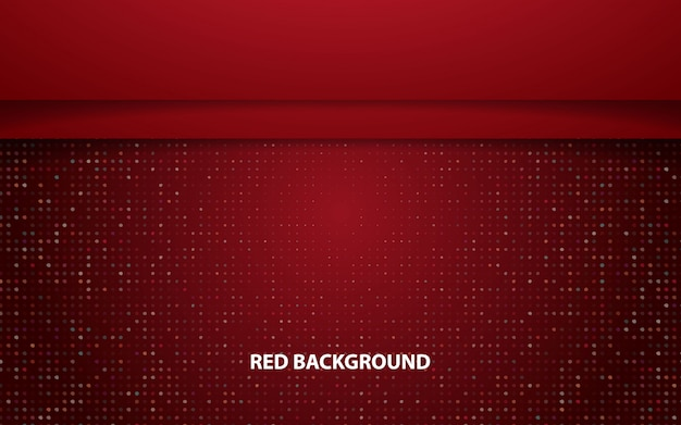 Red abstract overlap horizontal layer vector background