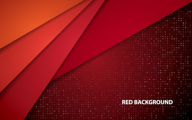 Red abstract overlap layers background