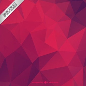 Red abstract polygonal background Free Vector