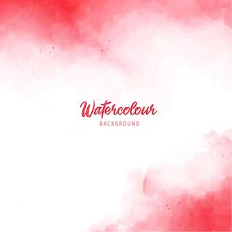 수채화 텍스처와 붉은 추상 스플래시 페인트 배경