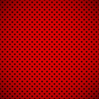 Red abstract technology background with seamless circle perforated speaker grill texture