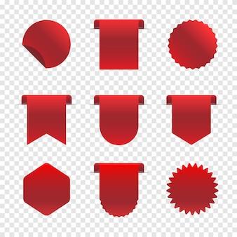 赤い広告バナーセット