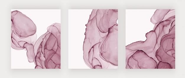 Крышки текстуры чернил красного спирта. абстрактная ручная роспись акварельным дизайном