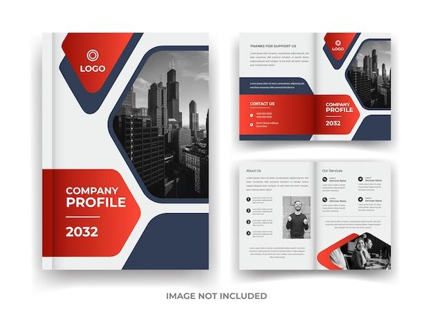Красно-черная страница 04 дизайн бизнес-брошюры, годовой отчет и шаблон журнала