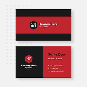 빨간색과 검은색 명함 디자인 템플릿