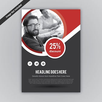 Red and black business flyer