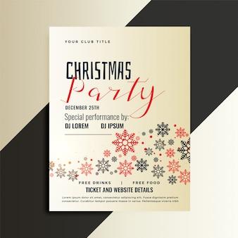 빨간색과 검은 색 크리스마스 전단지 디자인 서식 파일