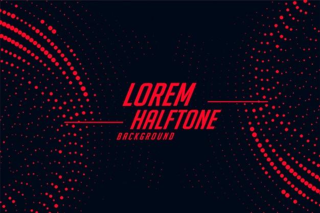 赤と黒の円形ハーフトーンの抽象的な背景