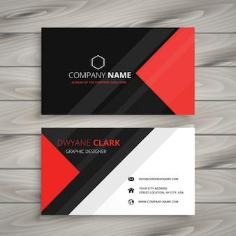 Красный черный корпоративная визитная карточка