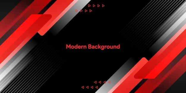 빨간색과 검은 색 기하학적 비즈니스 배너 디자인
