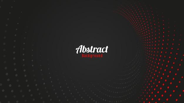 빨간색과 검은색 하프톤 도트 배경 디자인