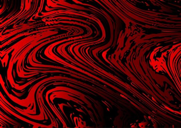 赤と黒の液体の抽象的なベクトルの背景 Premiumベクター