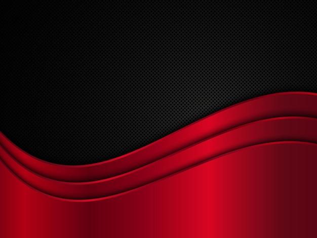 빨간색과 검은 색 메탈릭