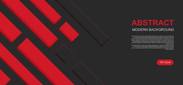 Красные и черные современные полосы с теневым фоном. абстрактный фон. векторная иллюстрация.