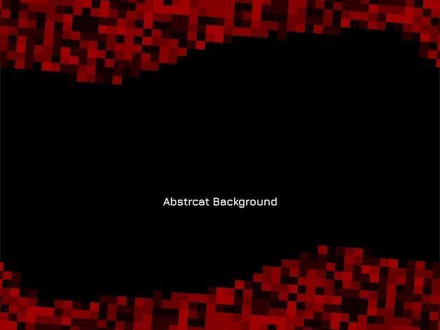 赤と黒のモザイクパターン背景