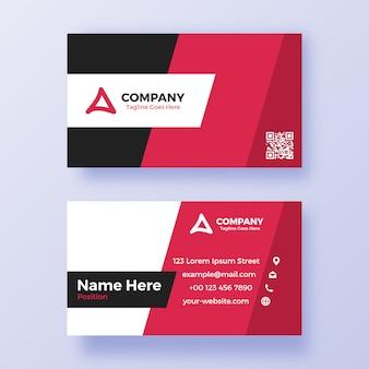 Красный и черный шаблон визитной карточки simpe