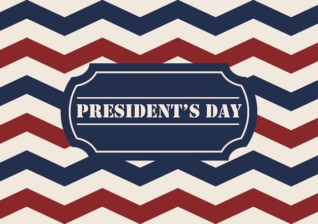 大統領の日のイベントのための赤と青のシェブロンの背景。