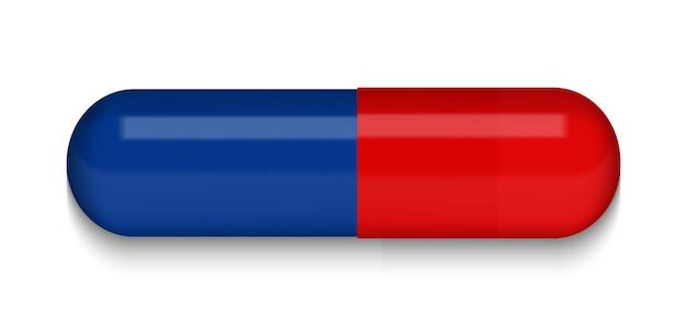 赤と青の医療ピル