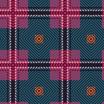 빨간색과 파란색 스코틀랜드 타탄 질감 배경