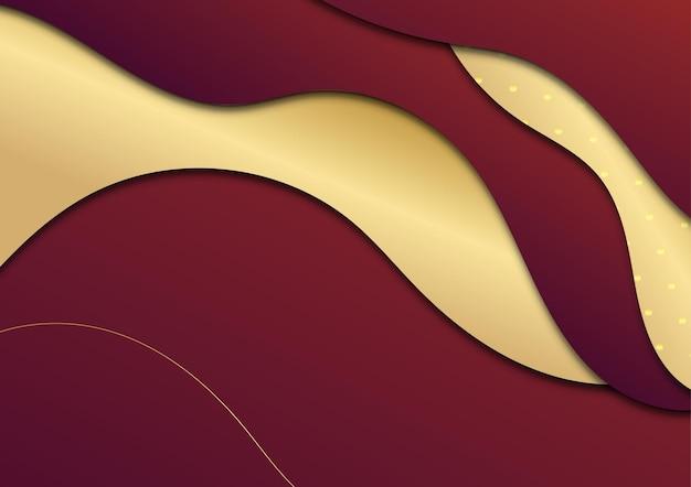 Красный и золотой абстрактный новогодний фон
