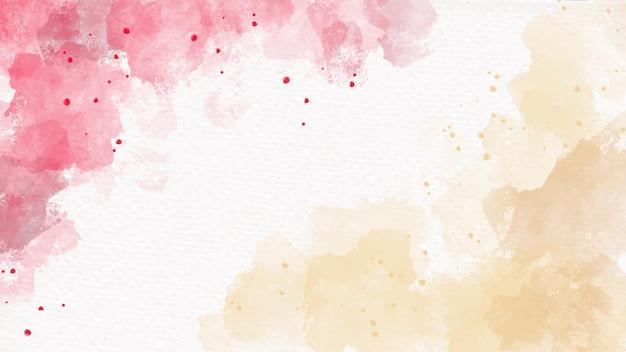 Красная и золотая акварель на бумаге абстрактный фон для празднования нового года или рождества Premium векторы