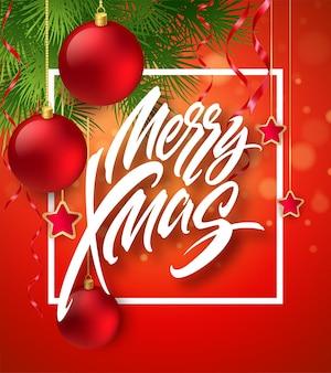 赤と金色のクリスマスの装飾。ベクターイラストeps10