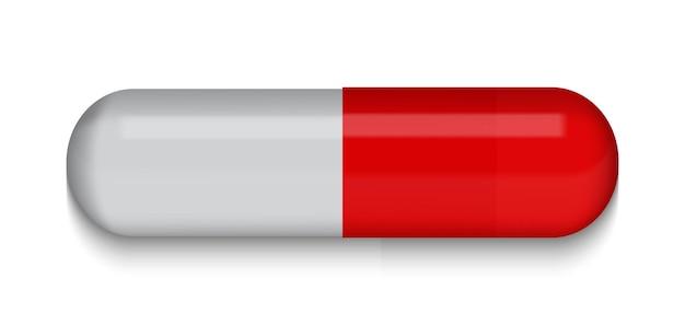 Красно-серая медицинская таблетка