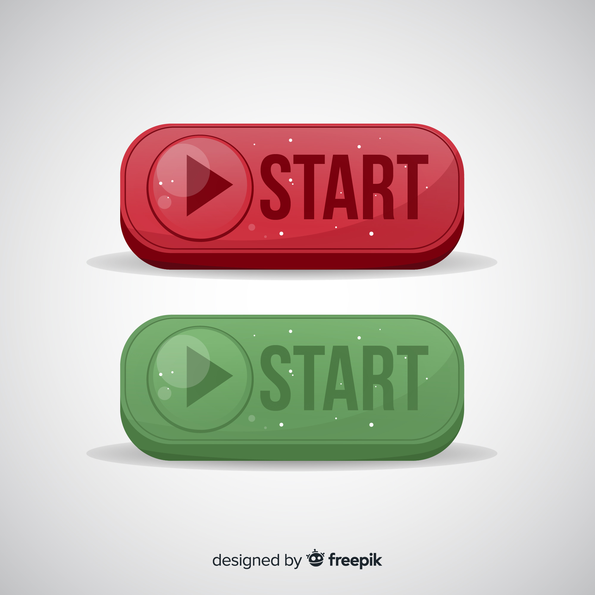 Red and green start button