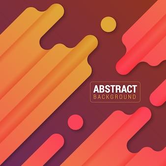 Красные и оранжевые абстрактные прямоугольники и круги векторный фон