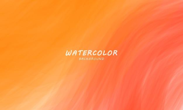Красный и оранжевый акварельный фон, абстрактный гранж-фон и текстуры мазки