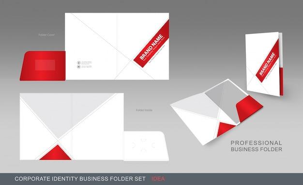 Красная и белая папка для бизнеса