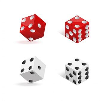 Красные и белые кубики