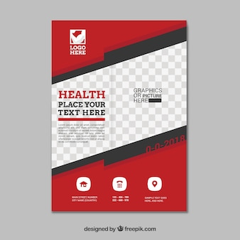 Red and white gym flyer template