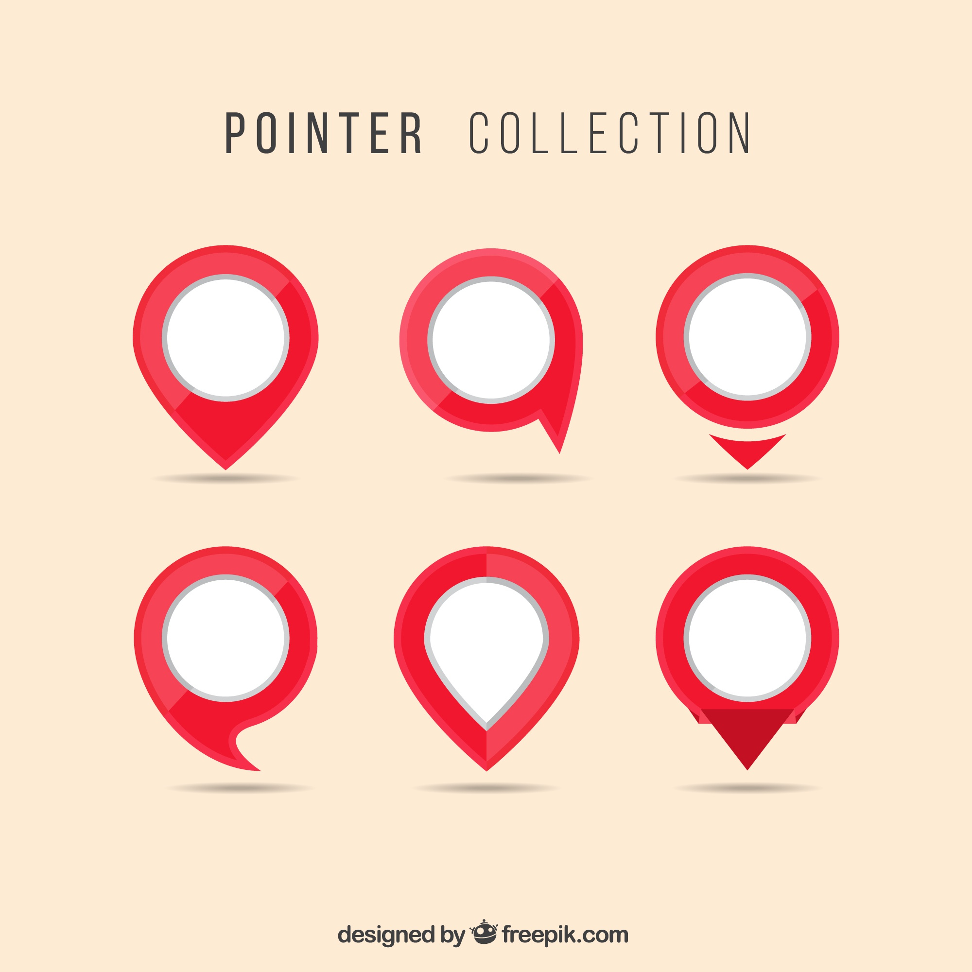 Red and white pointer collection
