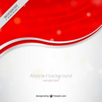 Red and white waves background