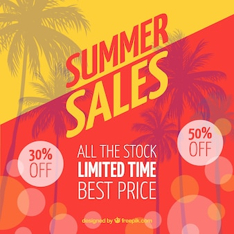 Red and yellow summer sale background
