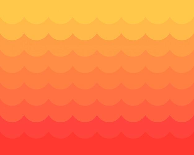 赤と黄色の波